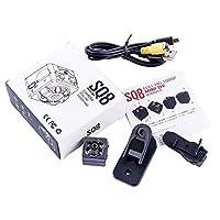 Sq8 Small 1080p 960pCamera Camera Sports Outdoor Infrared Night Vision Hd Small Camera Aerial Recorder-Black 960P