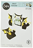 Sizzix 661137 Card Fox Label Fold-a-Long Thinlits Die Set by Jen Long (6 Pack)
