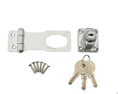 ハイロジック 鍵つき掛金錠 75ミリ 3本キー J-456