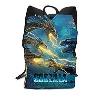双肩大容量リュックサック Ghidorah Vs Godzilla バックパック メンズ レディース 高校生 バッグ かばん Schoolbag スクエアリュック 通学 通勤