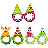 BESTOYARD クリスマスDIYメガネの写真小道具の小道具子供のパーティー好きの祭典用品の装飾(ランダムな色)