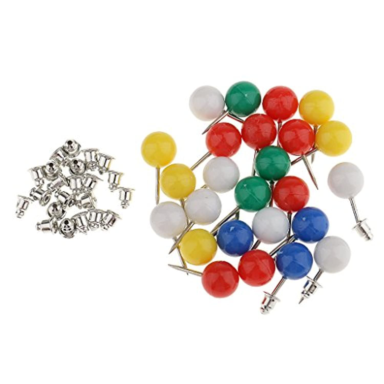 Prettyia 約25個 金属フレーム 縫製クラフト 位置針 DIY ハンドバッグ 財布 ピン カラフル 固定袋 ステンレス鋼 プラスチック 便利ツール