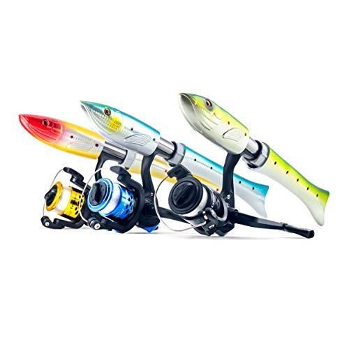 おさかなロッド チヌ竿 魚型 スピニングリール 3号糸 セット 「ギョルルド」 「puchi200」 3カラー qb300092