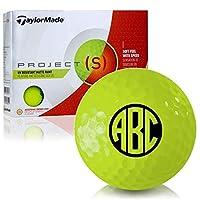 Taylor Made Project (S)マットイエローモノグラムパーソナライズゴルフボール