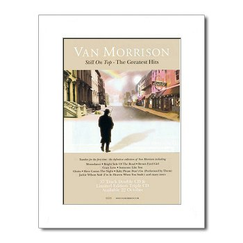 VAN MORRISON - Still On Top Matted Mini Poster - 28.5x21cm Music Ad World