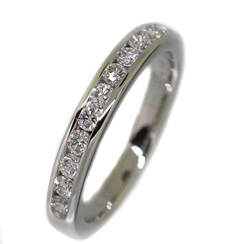 (ティファニー)TIFFANY&Co. ハーフエタニティ ハーフサークル チャネルセッティング バンド ダイヤ11P 0.33ct リング・指輪 プラチナPT950/ダイヤモンド レディース 中古