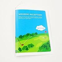 [席次表手作りセット]ゴルフ(10名様分)プリント用紙:A4サイズ /結婚式【多目的】