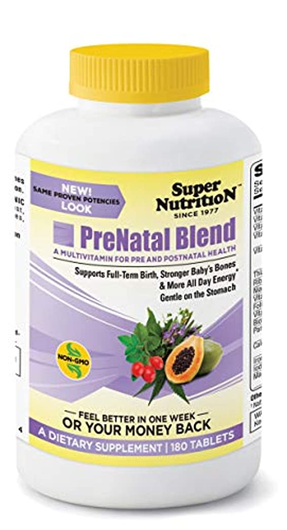パドル不均一聖職者Super Nutrition, PreNatal Blend, 180 Tablets