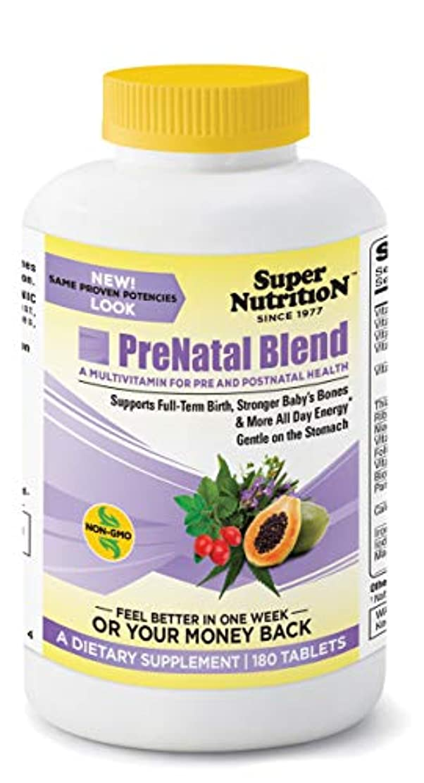 熱心なめまいお風呂を持っているSuper Nutrition, PreNatal Blend, 180 Tablets