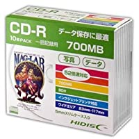 【まとめ 2セット】 HIDISC CD-R データ用5mmスリムケース10P HDCR80GP10SC