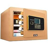 安全な家庭の小さな目に見えないキャビネットのセキュリティクローゼットのパスワードのオフィスの安全な盗難防止ミニアラーム金庫25センチメートルのベッドサイド 防犯用品 (Color : Black, Size : 36 * 30 * 26.5cm)