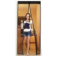 Aloudy マグネット式 網戸 最大 36 x 83 インチ (90 x 210 cm) ドア 対応 高耐久 メッシュ カーテン ドア枠 全体 ベルクロ ドア スクリーン マグネット付き