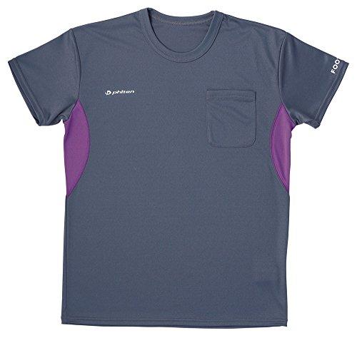 フットマーク フットマーク×ファイテン 介護ウェア Tシャツ ダークグレー LL