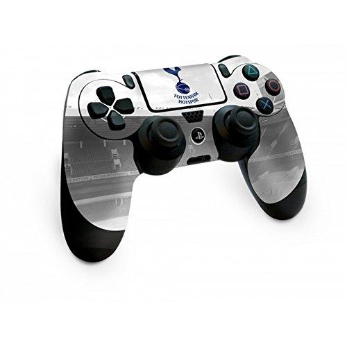 トッテナム・ホットスパー フットボールクラブ Tottenham Hotspur FC オフィシャル商品 PS4専用 コントローラー用 スキン 保護カバー (ワンサイズ) (シルバー)