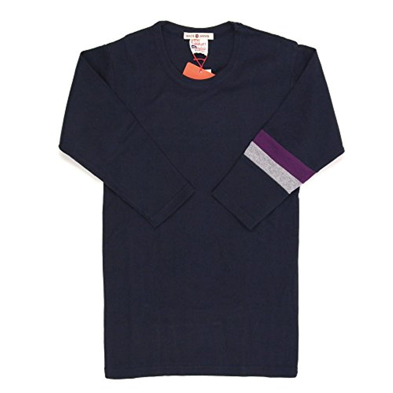 合成シンプトン盲目(クリフメイヤー) KRIFF MAYER 2トーン カラー 7分袖 クルーネック Tシャツ カットソー タイトシルエット 重ね着 KM949900