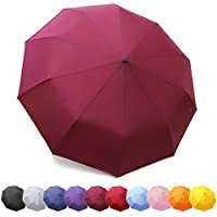 ZOMAKE Compact Travel Umbrella Windproof - Lightweight Folding Umbrella Automatic Open Close