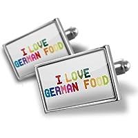 カフスボタンI Love German Food、カラフルな–Neonblond