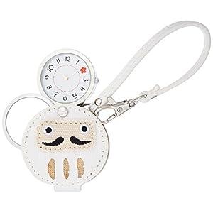 [フィールドワーク]Fieldwork 懐中時計 ダルマ ルーペ 付き ホワイト LW042-2 懐中時計
