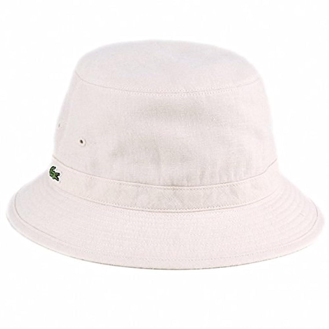 段階機構学習者サファリハット リバーシブル 麻混紡品 春夏 ラコステ メンズ バケットハット 帽子/ライトベージュ