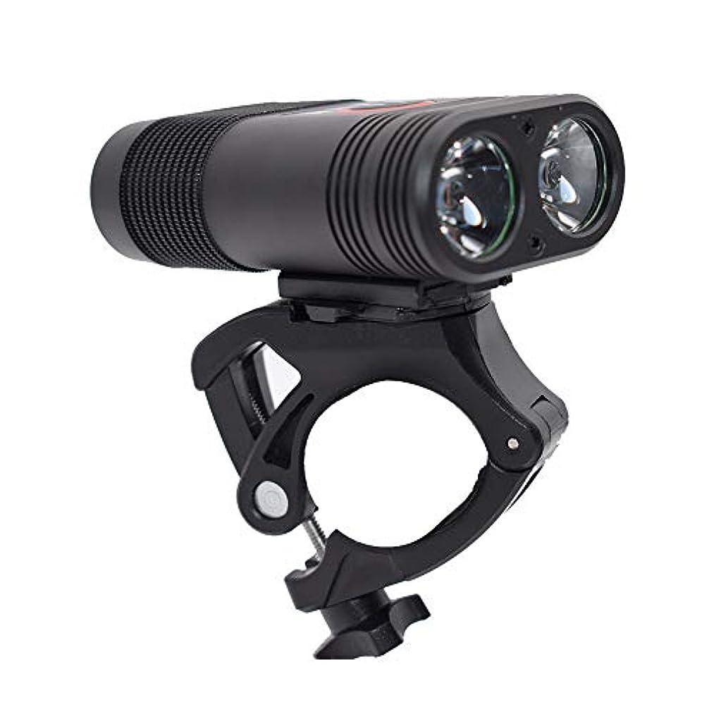 脳セクション足音一佳 自転車用 ヘッドライト マウンテンバイク ライト BX2 mountain bike T6 バイク用と懐中電灯両用 2600mAH USB充電式 夜間超明るいヘッドライトグレアライド