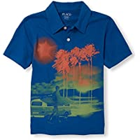 The Children's Place Big Boys' Graphic Print Polo Shirt
