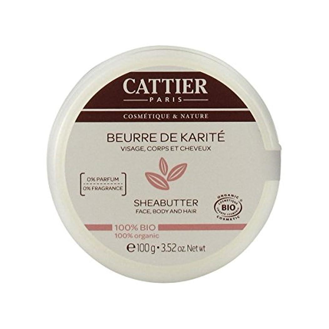 建てるクロール充電Cattier Shea Butter 100% Organic 100gr [並行輸入品]