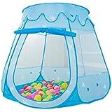 Iiomise 子供 キッズテント ボールハウス おもちゃ 知育玩具 折りたたみ式  アウトドアも室内(ブルー  ) 収納  誕生日 ゲーム