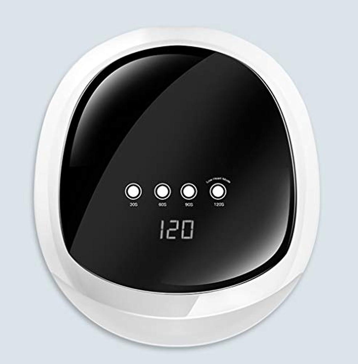 バランスのとれた補償試用LED UVネイルランプ硬化ランプ、プロフェッショナルマシンマニキュア/ペディキュア、家庭用ネイルアート用ポータブルネイルドライヤー,白