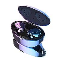 Cetengkeji AYD TWSブルートゥースイヤホン、充電ケース内蔵マイクヘッドセット付きワイヤレスステレオヘッドフォン。ランニングスポーツのためのベースとプレミアムサウンド (Color : Blue)