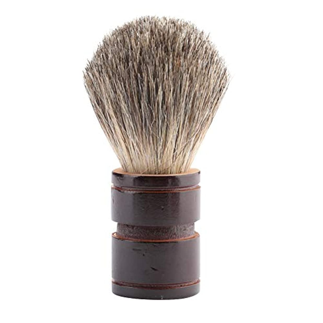 ピットハング無謀ひげブラシ、2色オプションのポータブルプレミアム品質ブラシ男性のためのひげのケアツール美容院と家庭用缶(ヘム+ミックスロード)