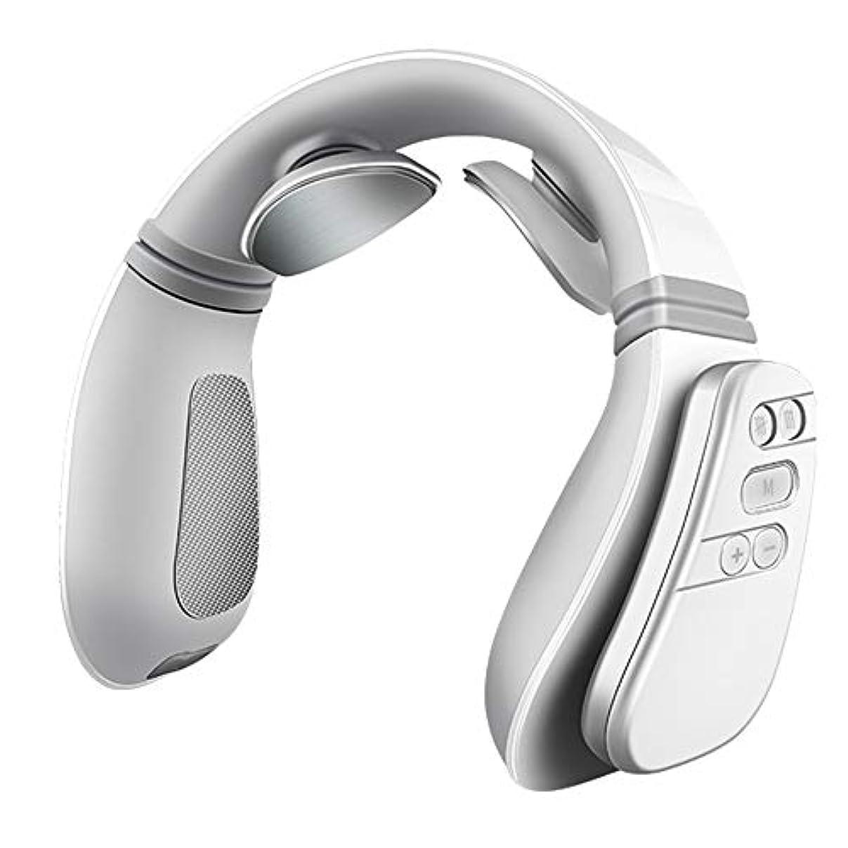ちっちゃい鉱石権限Jiayaofu Electric Neck Massager with Heating Function, Wireless 3D Travel Neck Massage Equipment, Muscle, Shoulder...