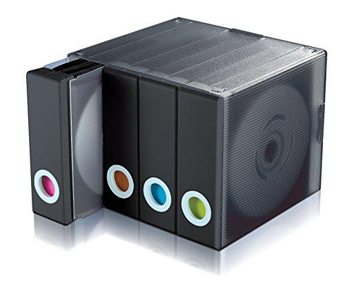 Avec Parade DVD CD収納ケース 大容量 96枚 DVD CD収納ボックス(ブラック)