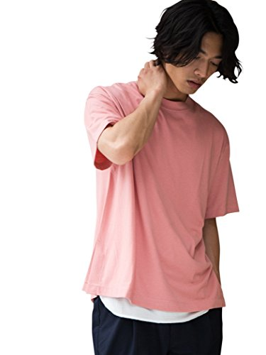 (ユナイテッドアローズ グリーンレーベル リラクシング) UNITED ARROWS green label relaxing 【WEB限定】 SC ★★BIG サイドベンツ クルー Tシャツ 32171054324 3150 LT.PINK(31) MEDIUM