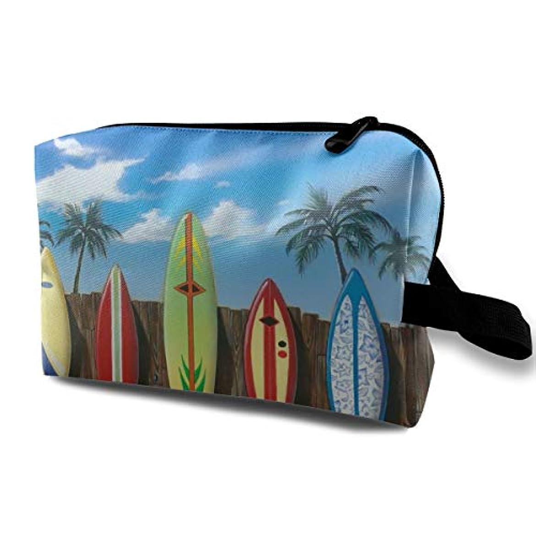 ハドル世界記録のギネスブック陰謀Beach Surfboard 収納ポーチ 化粧ポーチ 大容量 軽量 耐久性 ハンドル付持ち運び便利。入れ 自宅?出張?旅行?アウトドア撮影などに対応。メンズ レディース トラベルグッズ