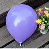 FidgetGear Wholesale 100pcs Latex Helium Thickening Round Wedding Party Birthday Balloon Purple 100 Pcs