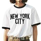 Tシャツ メンズ NEW YORK CITY リンガーTシャツ ジョンレノン