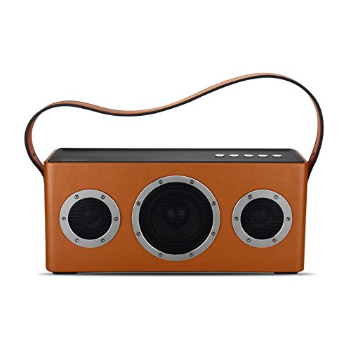 GGMM ワイヤレス Wifi ブルートゥース スピーカー 40Wデュアルドライバー ステレオ オーディオ 高音質 AirPlay DLNA対応 Bassボタン 低音強化 大容量バッテリー 長時間持続再生 トラップ付き アウトドア用 ポータブル スピーカー M4 (オレンジ)