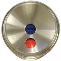 川口技研 室内用 ドアノブ ハイス両玉 WC トイレ用 BS60mm ステンレスヘアライン