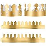 バースデーハット ユースペースな王冠 1歳の誕生日ハット ゴールドペーパーパーティーハット 男の子 女の子 大人用