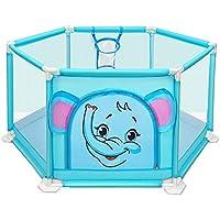 ベビーサークル 漫画の赤ん坊のベビーサークルポータブル幼児は、ペンを再生ヤードプレイヤード屋内子供の安全フェンスキッズプレイ (色 : 青, サイズ さいず : 110x50cm)