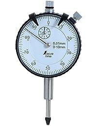 シンワ測定 ダイヤルゲージ 標準型 0.01mm/10mm 73750