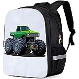 Monster Trucks Backpack for Boys, Casual Elementary School Bags Children Bag