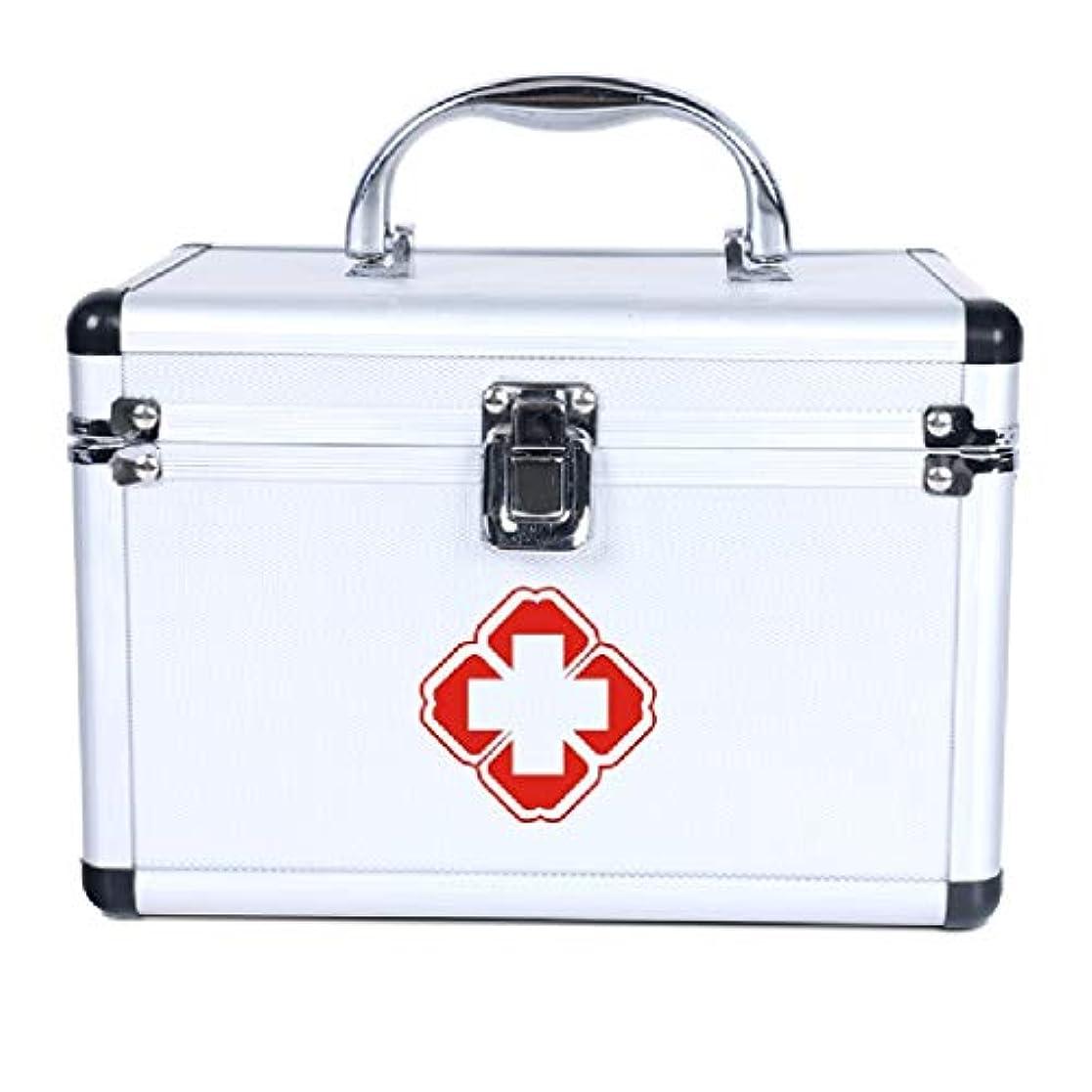止まる十分に偏見YQCS●LS 家の緊急の薬箱の多層分類のアルミ合金の医療用キットの貯蔵の薬箱