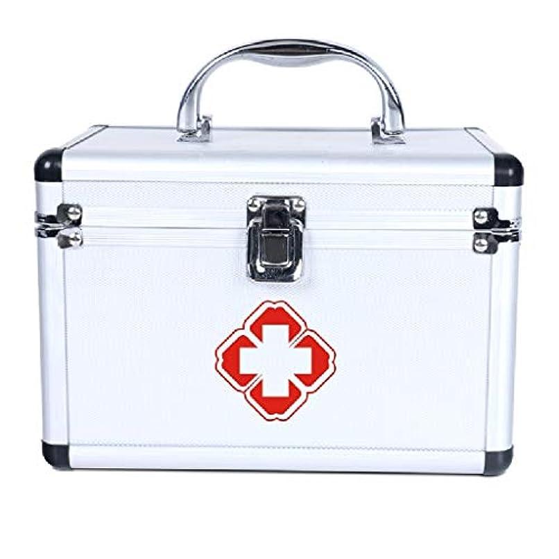 谷手紙を書く懸念YQCS●LS 家の緊急の薬箱の多層分類のアルミ合金の医療用キットの貯蔵の薬箱