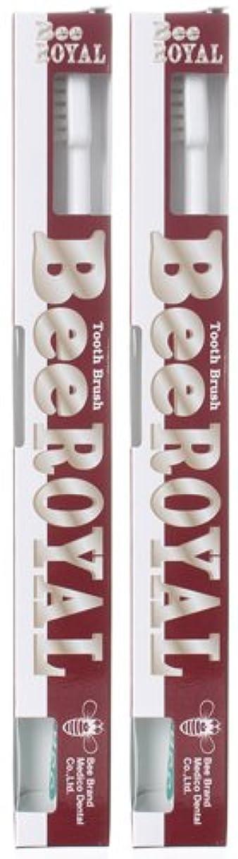 秘書呼吸天才BeeBrand Dr.BEE 歯ブラシ ビーロイヤル ふつう 2本セット
