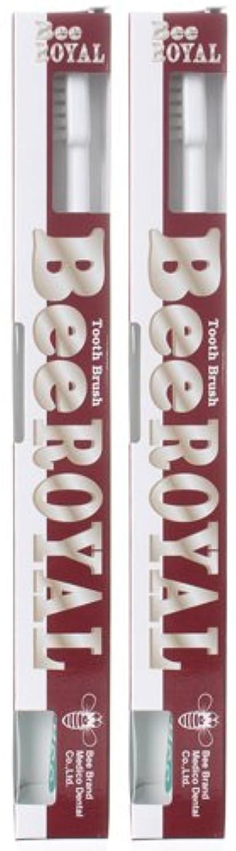 ナサニエル区過剰照らすBeeBrand Dr.BEE 歯ブラシ ビーロイヤル ふつう 2本セット