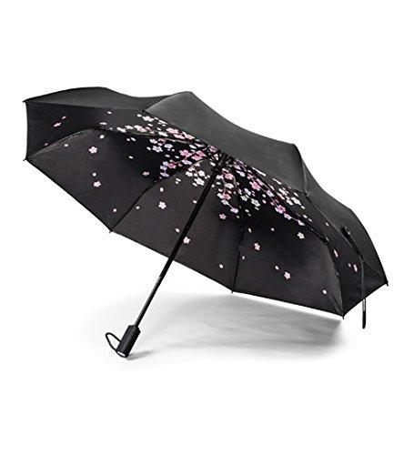 REMAX 折り畳み傘 自動開閉傘 105センチ 晴雨兼用 高強度傘骨 軽量 反射材つき 滑り防止 リバース傘 クリエイティブ車のリバース傘 両手解放可 梅雨対応(タイプ3)