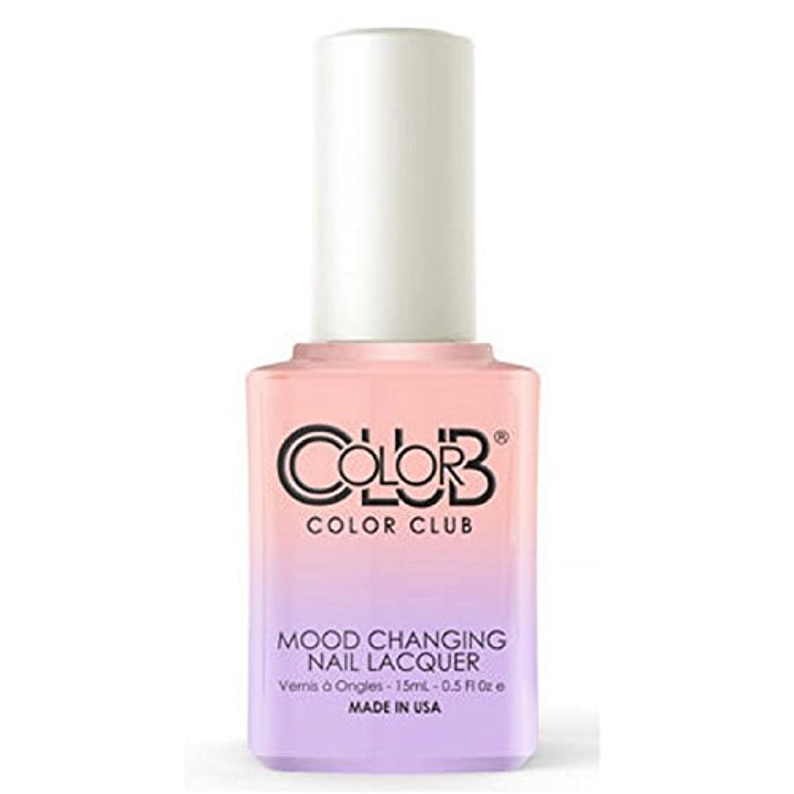 ピアースもちろんコックColor Club Mood Changing Nail Lacquer - Everything's Peachy - 15 mL / 0.5 fl oz