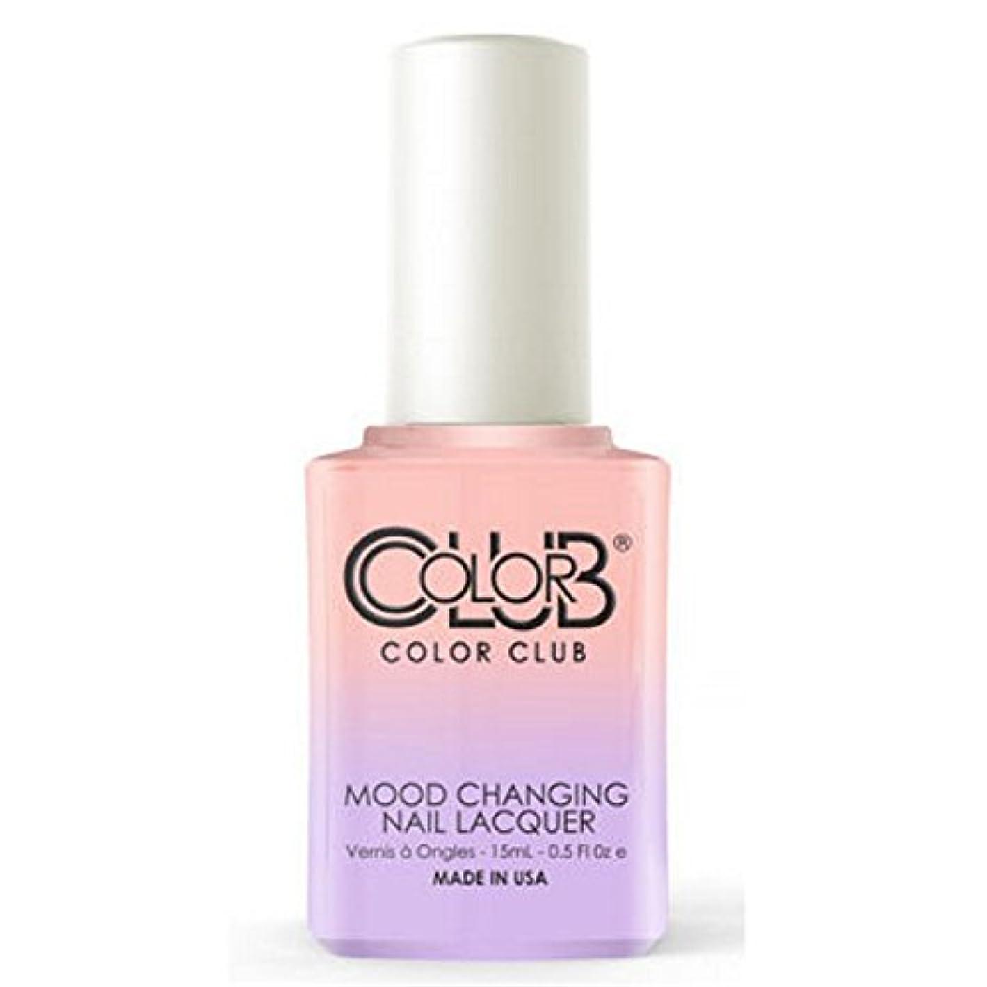 悩みブリッジブラウンColor Club Mood Changing Nail Lacquer - Everything's Peachy - 15 mL / 0.5 fl oz