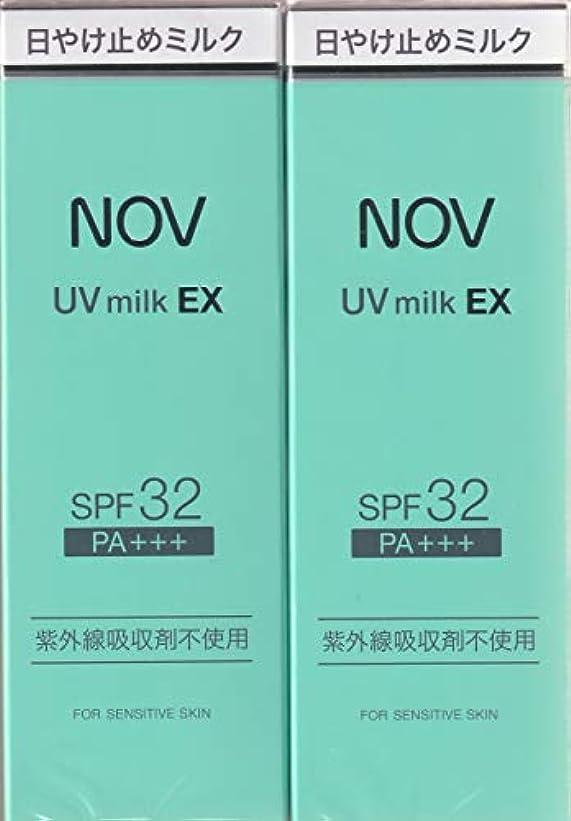 努力するシーン三十ノブ UVミルク EX 35g×2箱セット (日やけ止めミルク)